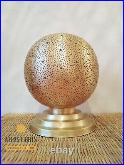 Moroccan Lamp Table Brass New VTG Brass Lamp Desk
