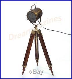 Nautical Designer Tripod Lamp Searchlight Spot Light Vintage Industrial Marine