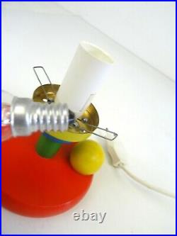 ORIGINAL POSTMODERN COLORFUL VINTAGE MEMPHIS SOTTSASS AGE TABLE LAMP 80s
