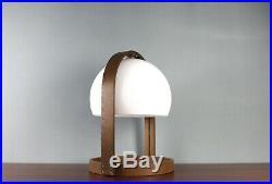Original Temde Design Globe Tischlampe 70's Vintage Table Lamp Nussbaum Teak