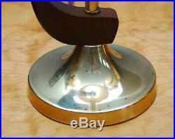 Pair 2 Vintage MID Century Danish Modern Teak Brass Table Lamp Eames Atomic Age