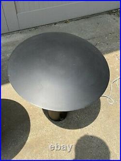 Pair George Nelson Half Nelson Black Table Lamp Koch & Lowy Vintage