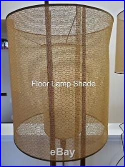 Pair Mid Century Modern Modeline Walnut Lamps Table and Floor Vintage