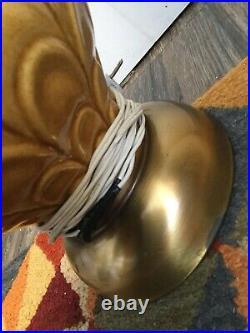Pair Of Tan/beige/Gold Vintage Retro Ceramic Table Lamps mid century modern