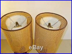 Pair Vintage Mid Century 1960s-1970s Happy Buddha Table Lamps