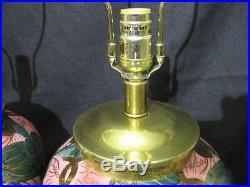 Pair of Vintage Ceramic Ginger Jar Asian Lamps by Frederick Cooper 26