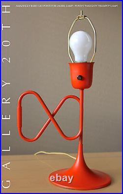 RARE! 50'S GIO PONTI HAUGHTY TRUMPET LAUREL LAMP! MID CENTURY MODERN VTG 60's