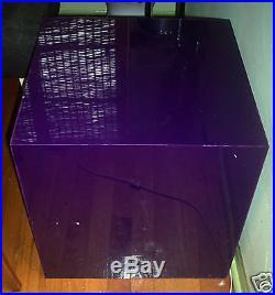 RARE Vtg Mid Century Table/Light/Lamp Cube Purple Acrylic/Plexi Glass
