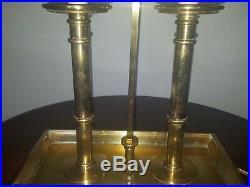 Ralph Lauren Oversized Vintage Bouilotte Lamp with Black Adjustable Tole Shade