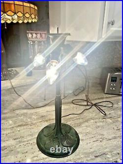 Rare Antique Bradley Hubbard Lily Pad Lamp Base. Handel Lamp Era