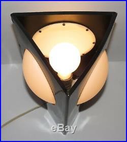 Rare! MID Century Modern 3-sided Black Lamp! Vtg Sonneman 60s Eames Mod Panton