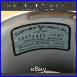 Rare! MID Century Modern Tony Paul Lamp! Vtg Retro Panton 1960's Atomic Sonneman