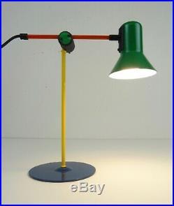 Rare Stunning Vintage MID Century Memphis Sottsass Table Lamps 80s