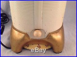 Rare Vintage 1941 Mitchell Lumitone Streamline Bakelite AM Radio Table Lamp