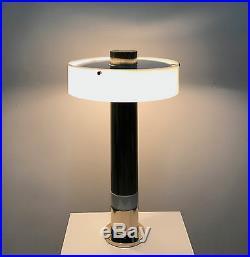 Rare Vintage 1970's Paul Mayen Attr Lucite Column Table Lamp Mid Century Modern