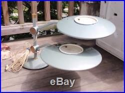 Rare Vintage Dazor Retro MID Century Double Flying Saucer Ufo Table Lamp Light