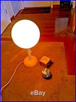 Rare Vintage Mid-century Modern Atomic Orb Space Age Globe Indoor/outdoor Lamp
