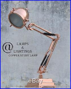 Restoration Vintage Industrial COPPER Table Side Lamp Desk Lighting REPLICA New