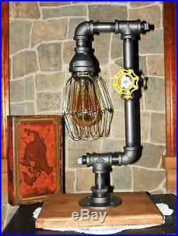 Retro Industrial Vintage Steampunk style Lamp with Nostalgic edison bulb