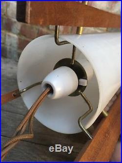 Retro Vintage Small Rocket Table/Desk Lamp Light Fibreglass Shade 1960s/1970s
