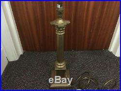 SUPERB VINTAGE LAURA ASHLEY LARGE 19 ANTIQUE BRASS CORINTHIAN TABLE LAMP 2.6kg