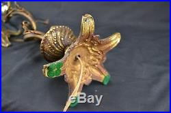 Set 2 Brass Vintage Cherub Putti Lamps Made in Spain Hollywood Regency Boudoir