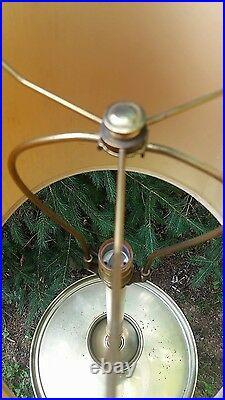 Stiffel Floor Lamp Table Vintage Solid Brass Hollywood Regency 60s MCM Marked