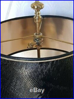 Stiffel-Vintage-Solid Brass-Bouillotte Decor-3 way Candlestick Desk/Table Lamp