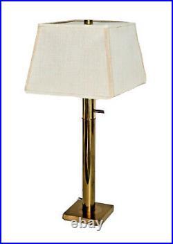 Stiffel Vtg Mid Century Modern Hollywood Regency Brass Cylinder Table Desk Lamp