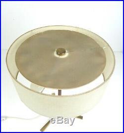 Stunning MID Century Modern 60s Teak & Brass Vintage Table Lamp 1960
