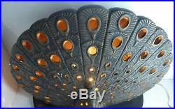 Tacaks Pottery Australian Studio Ceramic Peacock Lamp Retro Vintage
