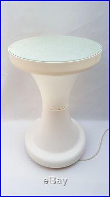Tavolino luminoso vintage modernariato abs anni 70 lampada piantana table lamp