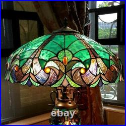 Tiffany Style Table Lamp Stained Glass Vintage Victorian Accent Office Desk