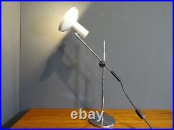 Tisch Lampe Lese Büro Architekten Leuchte Vintage Table Lamp Weiß 60er70er Jahre