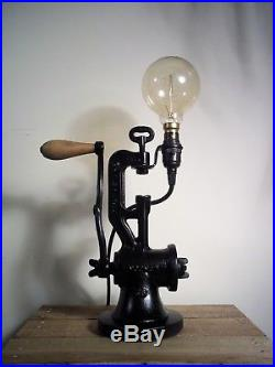 UpCycled Rustic Antique/Vintage Cast Iron Industrial/Steampunk Desk/Table Lamp