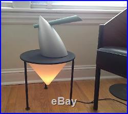 VERY RARE Philippe Starck Modernist Memphis Era Post Modern VTG lamp table