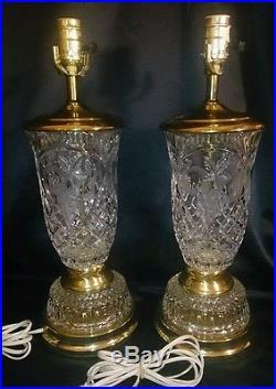 Vintage 18 Pair Crystal Clear Industries Cut Glass Prism