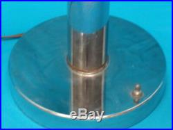 VINTAGE 60's SPACE AGE / ATOMIC ERA 60's CHROME PENDANT TABLE LAMP 30