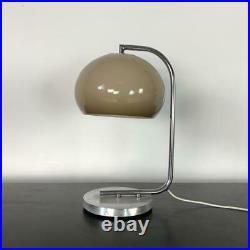 VINTAGE 70s MIDCENTURY GUZZINI STYLE TABLE MUSHROOM LAMP LIGHT #3217