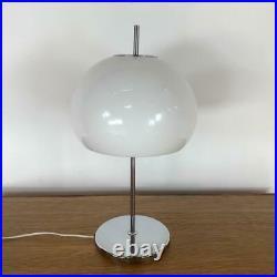 VINTAGE 70s MIDCENTURY GUZZINI STYLE TABLE MUSHROOM LAMP LIGHT #3268