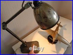 VINTAGE CAST IRON & STEEL MID 20th CENTURY ANGLEPOISE MEMLITE DESK TABLE LAMP
