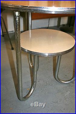 VINTAGE KEM WEBER PAIR lamp TABLE ART DECO MACHINE AGE RHODE DESKEY ROYAL CHROME