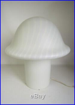 VINTAGE PEILL MUSHROOM TABLE DESK BEDSIDE TABLE LAMP MID CENTURY MODERN 60s XL