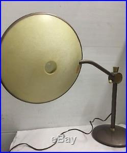 VIntage Dazor Mid Century Modern Atomic Era Saucer UFO Desk Table Lamp No 2008