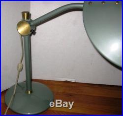 VIntage Dazor Mid Century Modern Atomic Era Saucer UFO Lamp No 2008 A BEAUTY