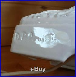 VTG Italian Double Heron Chinoiserie Fine Porcelain Ceramic Table Lamp Italy 28