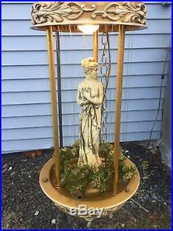 VTG Mineral Oil Rain Table Lamp 30 Creators Inc. Nude Greek Goddess tin metal