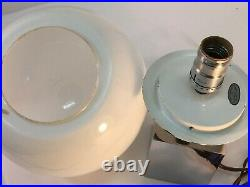 VTG Scarce MCM SONNEMAN Square Ball Chrome Short LOLLIPOP Table lamp 1960s