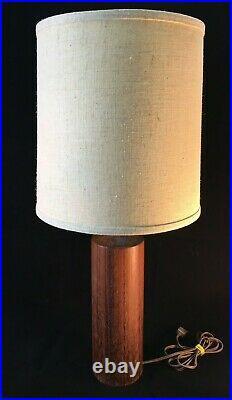 VTG TEAK WOOD DANISH Mid Century Modern table lamp Denmark Scandinavian