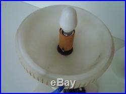 Vintage 1930s Art Deco Carved Alabaster & Spelter Harlequin Pierrot Table Lamp